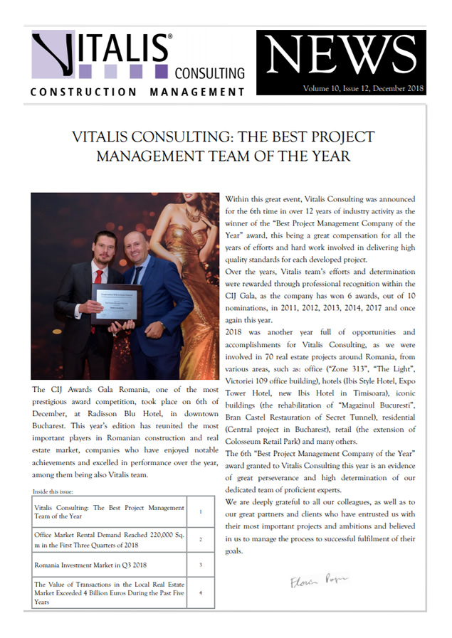 Vitalis News, Volume 10, Issue 12