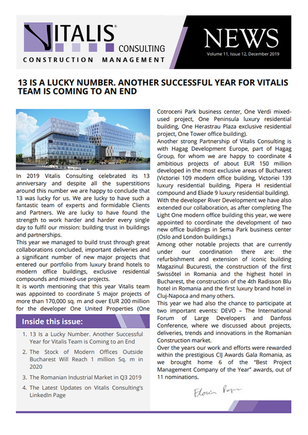 Vitalis News, Volume 11, Issue 12